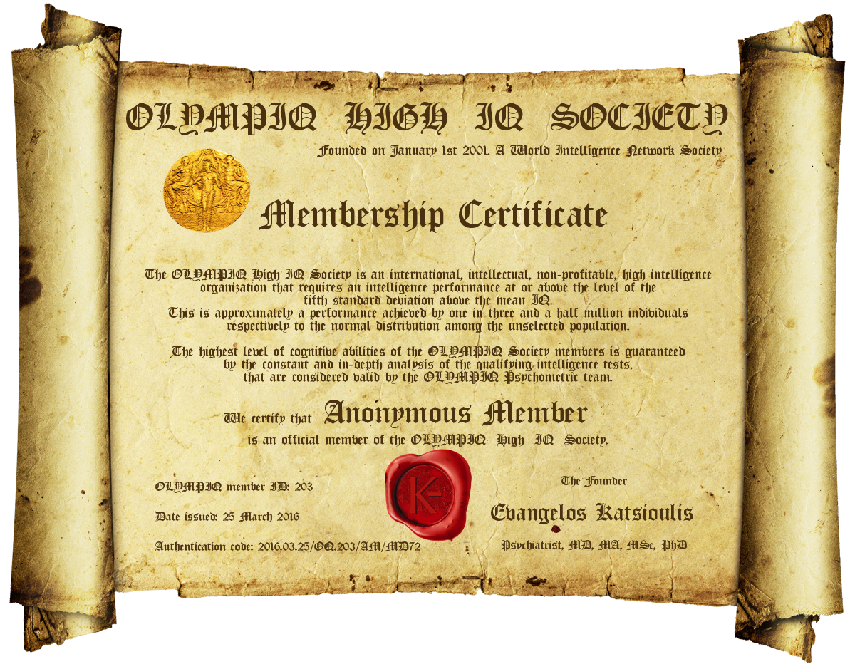 Membership – Sample Membership Certificate